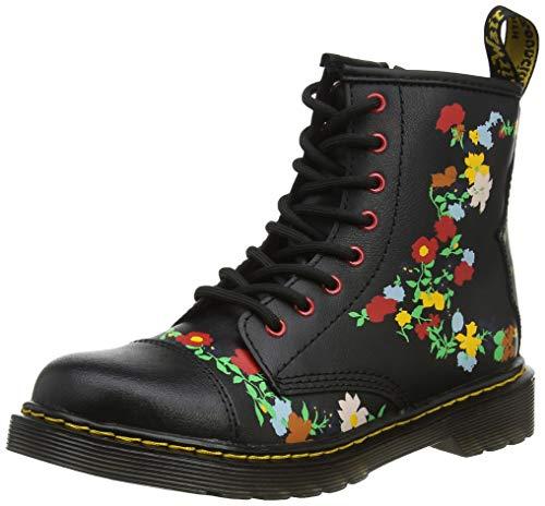 Dr. Martens Mädchen 1460 Pooch Flower J Kurzschaft Stiefel Schwarz (Black Multi 019) 33 EU