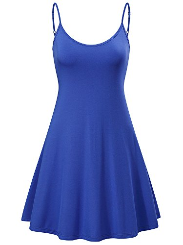 MSBASIC Ärmelloses, verstellbares Riemchensommer Strand Swing Kleid für Damen 17148-4 Large