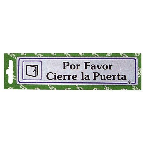 WOLFPACK Rotulo por Favor Cierre La Puerta