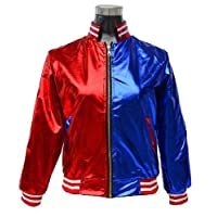 Crazy Girls Womens Kids Harley Jacket Suicide Squad Cosplay Costume Fancy Quin Halloween Coat Festivals