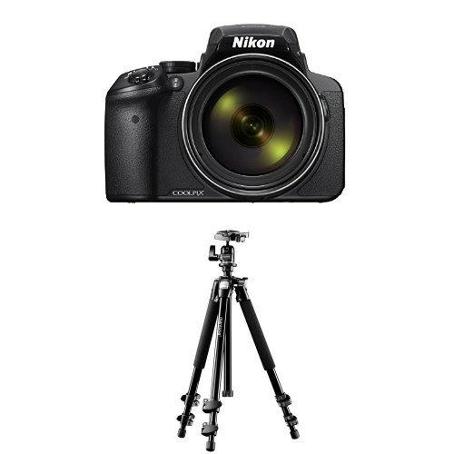 Nikon Coolpix P900 Digitalkamera (16 Megapixel, 83-fach optischer Megazoom, 7,5 cm (3 Zoll) RGBW-Display mit 921.000 Pixel, Full-HD-Video, Wi-Fi, GPS, NFC, bildstabilisiert) schwarz + Mantona Scout (DE Version)