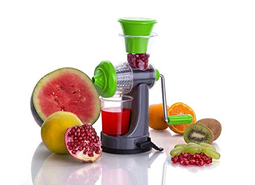 Teneza Mini Juicer Machine, Juice Maker Machine for Home, Deluxe Fruit & Vegetable Manual Juicer with with Steel Handle (Color May Vary As per Stock Available)