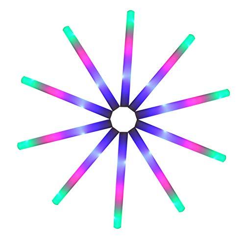 AchidistviQ LED-Leuchtstäbe für Konzertpartys, bunt, 10 Stück Multi