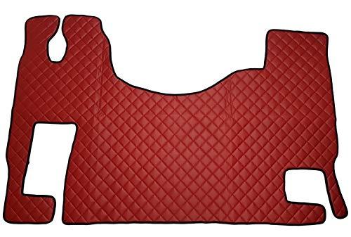 Ricami a filo Linea Tricolore italiana SPEDIZIONE GRATUITA Tappeti per auto Neri con Bordo Rosso set completo di Tappetini in Moquette su Misura