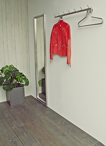 Spinder Design Odin Wandgarderobe / Garderobe - 8x80x13 cm - 7 Haken - Edelstahl