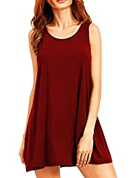 048183248833 YMING Damen Casual Langes Shirt Lose Tunika Kurzarm T-Shirt Kleid 24  Farbe,XS