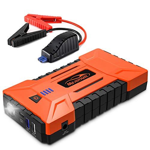 mfavour Avviatore di Emergenza per Auto con capacità 16000mAh e 1200A Corrente di Picco, Jump Starter con 15W Uscita Type C, Caricabatteria Portatile con Torcia LED e Uscita USB Quick Ch