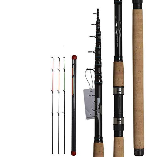 Margot-Charismatic-Shop Fishing Rods Angelrute Feeder Angelrute Teleskop Spinning Casting Travel Rute 3,6 m Vara Karpfen-Futterspender 60-180 G Rute, 3 Stück