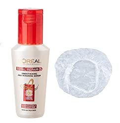 Loreal Total Repair <5 Smoothing And Repairing Set of 2 (Serum+Shower Cap) 40 ml with Ayur Product in Combo