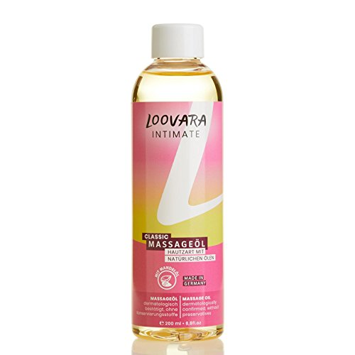 Loovara Massageöl Classic (200 ml) mit Premium Mandelöl, Jojobaöl und zitrusfrischem Duft, Made in Germany