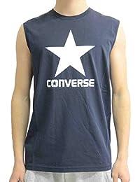 Converse Crew Logo Homme Tank Bleu