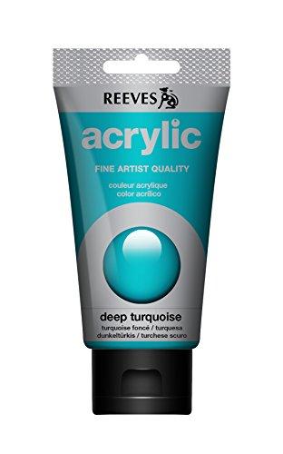 REEVES Acrylfarbe Acrylic, hohe Pigmentierung, 75ml Tube - dunkel Türkis