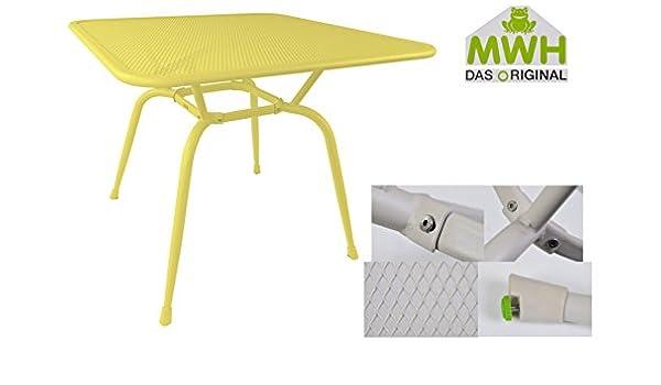 MWH-Tisch Conello 90x90x74cm Popcorn Streckmetalltisch Gartentisch Tisch Möbel