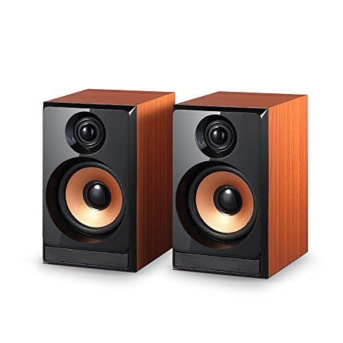 Chinelae 5W USB Power 3.5mm Laptop Computer PC Tablet Speakers Wooden Box for Samsung Iphone Gaming Orange