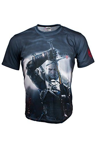 the-witcher-3-wild-hunt-game-black-short-sleeve-cool-t-shirt-graphics-tee-m