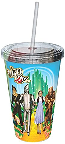 Plastic Mug - Wizard of Oz - Yellow Brick Road Cup w/Straw 09691