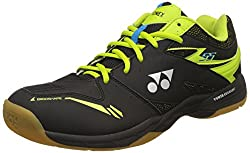 Yonex SHB 55 Badminton Shoes, UK 5 (Black/Lime)