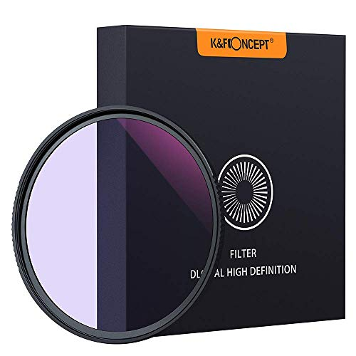 K&F Concept 77mm Natual Night Filter Light Pollution Filter for Night Photography Sky/Star Astrophotography Optical Glass Double Sided MRC Coating Waterproof and Oil Resistant