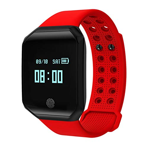 Lesiey Z66 Pulsera Inteligente Smart Wireless Hombres y Mujeres Podómetro Deportivo Wechat Weather Heart Rate Sleep Monitoring Watch - Rojo