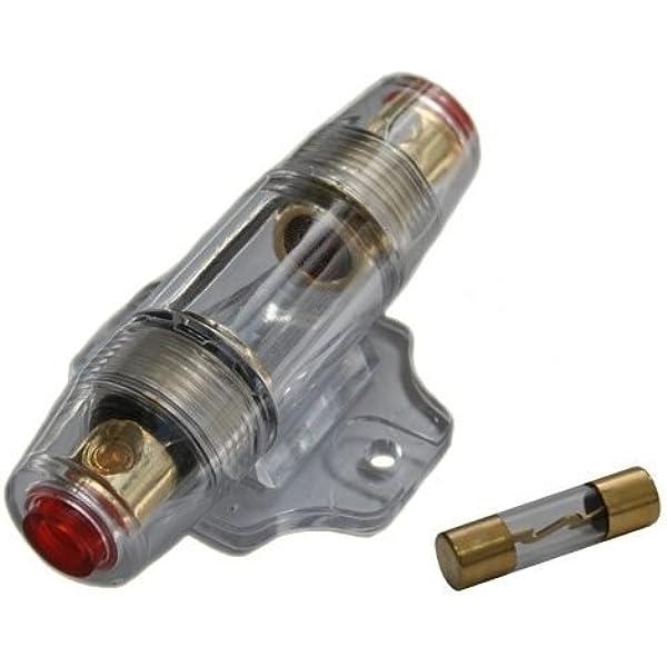 Kfz Auto Car Hifi Sicherungshalter Sicherung Agu Für Endstufe Verstärker Vergoldet Inkl 60a Audio Hifi
