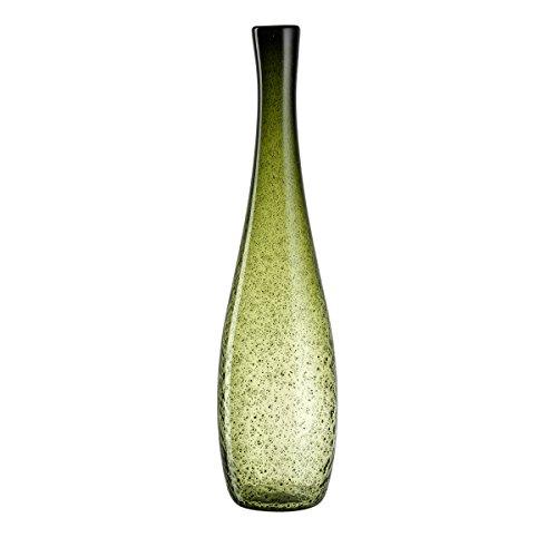LEONARDO Giardino Florero en forma de botella Vidrio Verde jarron - jarrones...