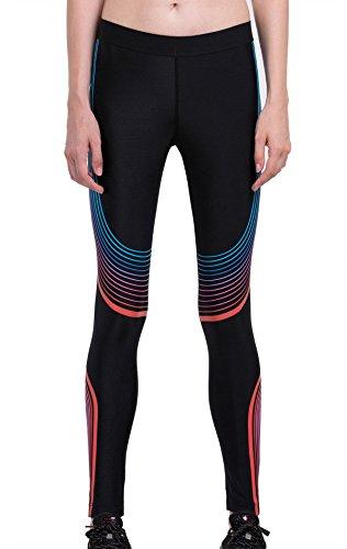 Cody Lundin® Mujer Compresión Deporte Medias Pantalones Moda Impreso