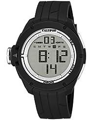 Calypso watches Digital - Reloj de cuarzo para hombre, correa de plástico color negro