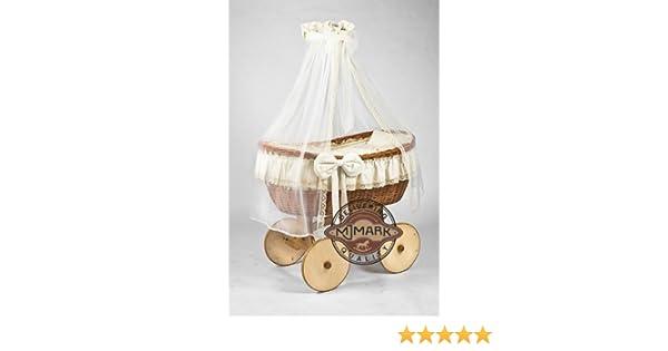 Stubenwagen bollerwagen ophelia antique cream: amazon.de: baby