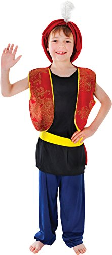 Arabisch Genie Aladdin Boy Kostüm Kinder Buch Woche Komplettes Outfit UK Gr. L, (Kostüm Aladdin Genie)