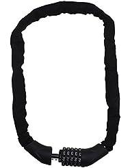 Ecolle–Candado para bicicleta Candado, 1000mm de largo, 7mm de grosor, 5dígitos cerradura de combinación | 100.000posibles combinaciones |–Cadena y candado para bicicleta y moto
