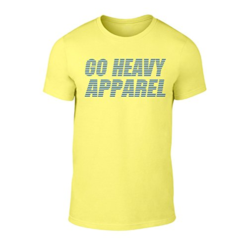 GO HEAVY Camiseta para hombre - Stripes - amarillo - S