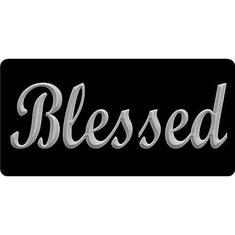 Blessed portafoto con lettere Argento Targa