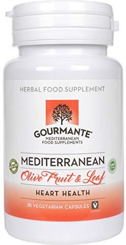 Mediterrane Olivenblattextrakt Kapseln für Herz-Kreislauf-Unterstützung von GOURMANTE | Authentische pflanzliche Kapseln mit QH-2 & Oliven Extrakt für Herz-Kreislauf Unterstützung