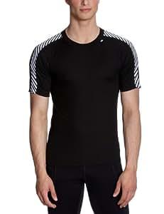 Helly Hansen Men's HH Dry Stripe T Undershirt - Black/998 BLACK, 2X-Small