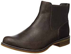 Timberland Magby Low Chelsea (Wide fit), Bottes Femme, Marron (Dark Brown Full Grain), 39 EU