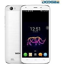 Telefonos Moviles Libres, DOOGEE T6 Pro Moviles Libres Baratos - 6250mAh 5.5 HD Pantalla - Dual SIM Libre Desbloqueado - 3GB RAM + 32 GB ROM - 13MP+5MP Cámara (Blanco)
