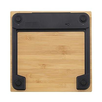 41eC5IU5ZML. SS416  - IKOHS NATURE WELLNESS - Báscula de Baño con Pantalla LCD, compacta, Capacidad de 180 kg, Laminado de Bamboo Natural
