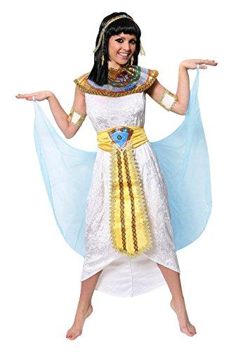 KLEOPATRA/Cleopatra KÖNIGIN des Nil ÄGYPTEN PHARAONIN KOSTÜM VERKLEIDUNG =MIT PERÜCKE +OHNE PERÜCKE =IN 5 GRÖßEN=TOLLE CÄSAR ODER GÖTTIN des NILS AN Fasching UND Karneval=KOSTÜM-MEDIUM (Caesar Cleopatra Halloween-kostüme)