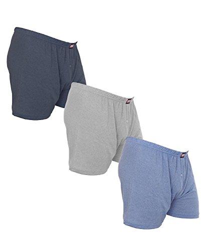 3er Pack Herren Boxershorts bis Übergröße Nr. 437 - Farben können variieren Mehrfarbig