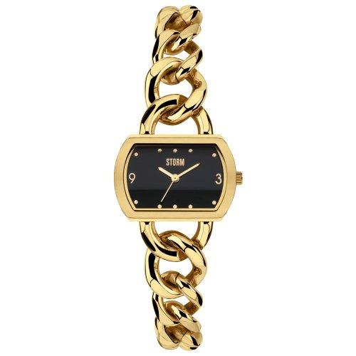 Storm 47216/GD - Orologio da polso da donna, cinturino in acciaio inox colore oro