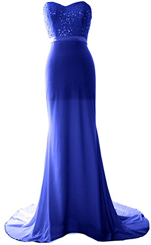 MACloth - Robe - Trapèze - Sans Manche - Femme Azul Real
