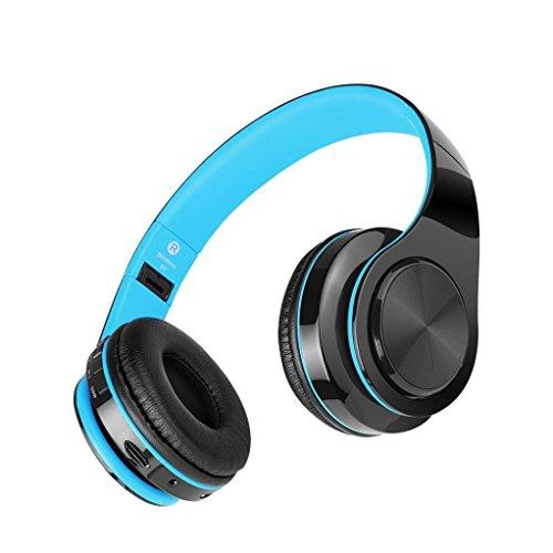 Y56 kabellos Wireless Bluetooth 4.1 BT 4.1 Head-Mounted Hals Sport Gym Headset Stereo Kopfhörer Stereokopfhörer für iPhone Samsung Galaxy Huawei (Sky Blau)
