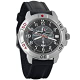 Vostok Komandirskie 2414A / 431831 - Men's Wrist Watch, Mechanical, Military, Russian