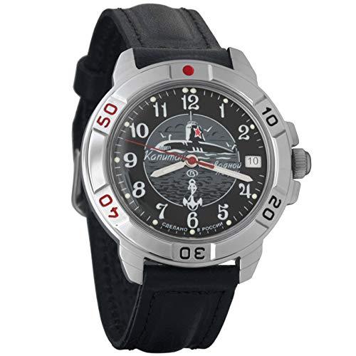 Vostok Komandirskie militare russo meccanico orologio da polso uomo 2414a/431831