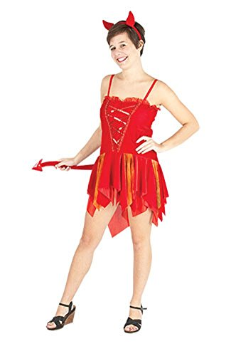 Damen Halloween Devils Delight Kostüm Onesize EUR 36-42 (Onesize (EUR 36-42), Rot) (Devil's Delight Für Erwachsenen Kostüm)