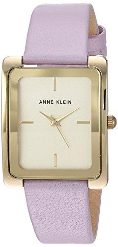 Anne Klein Women's AK-2706CHLV Purple Leather Quartz Fashion Watch