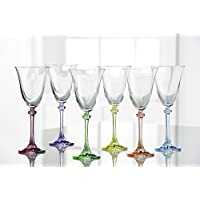 Galway Crystal Galway Liberty Party Pack Goblets (Set of 6), Clear/Multicolor