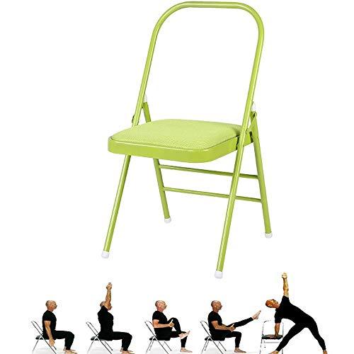 SAJyj Puntello for Sedia da Yoga Senza Schienale: Strumento di Allenamento for la flessibilità e la Forza (Color : Green)