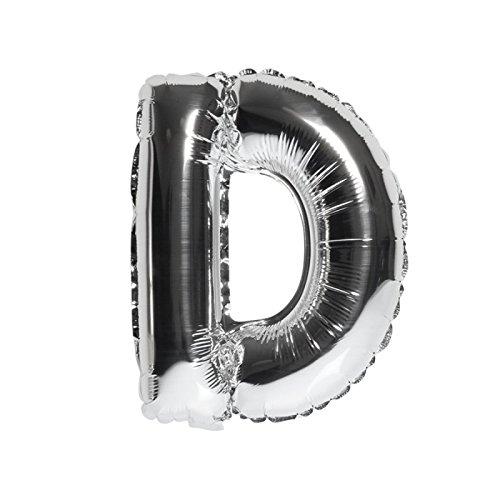 DekoRex® Folienballon Luftballon Geburtstag Feier Hochzeit 40cm Buchstabe D