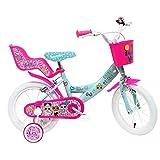 ALTRO Art. 2295 MGA, Bici Bimba 14' LOL 2 Freni Unisex_Bambini, Rosa-Celeste